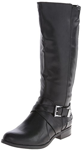 LifeStride Women's Racey Riding Boot,Black Wide Shaft,7 W US Black