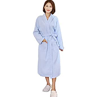 de831db3ead Women Waffle Kimono Robe Cotton Dressing Gown Lightweight Bathrobe for Spa  Hotel Sleepwear Bridesmaid Gift