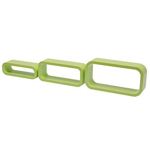 Duraline gioco 3 cubi ovale angolo curvi, legno, verde, 40 x 20 x 10cm, 2 unità