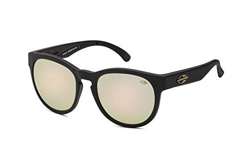 Mormaii Sonnenbrille Ventura, schwarz matt mit braun rosa golden Linsen