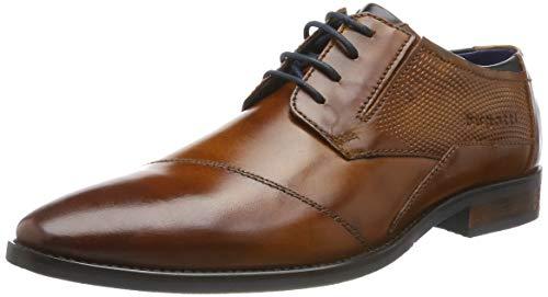 Bugatti 312164142100, Zapatos de Cordones Derby para Hombre, Marrón Cognac 6300, 40 EU