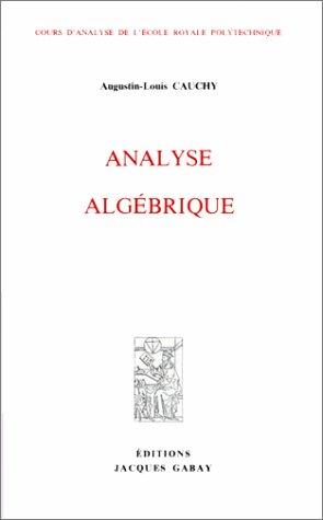 Analyse algébrique par Cauchy