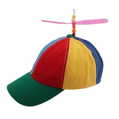 CUTICATE Propellermütze Mütze mit Propeller, Mütze Baseball Cap Hut Kappe - Erwachsene (Für Erwachsenen Vintage Baseball Kostüm)