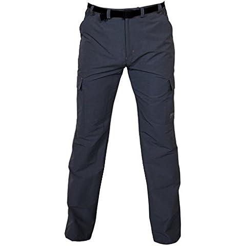DEPROC Hombre Trekking/–Pantalón de senderismo Kenora Long Full Stretch, todo el año, hombre, color gris antracita, tamaño 62