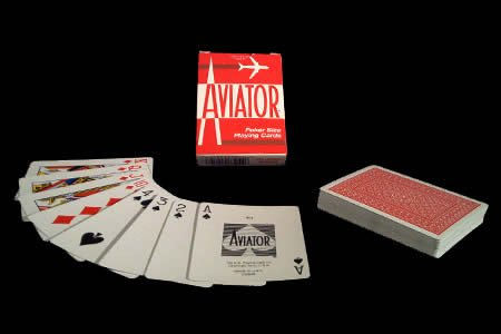 Baraja AVIATOR - Dorso Rojo US Playing Card Company