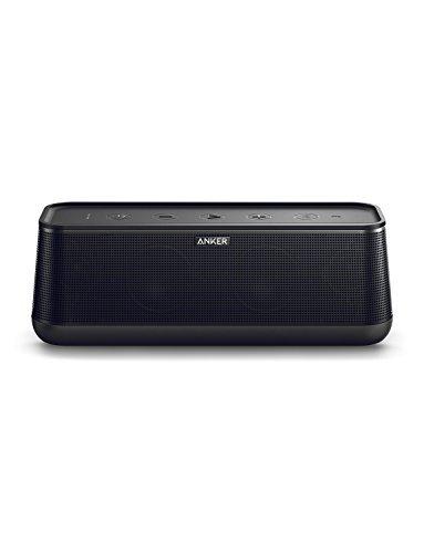 Anker SoundCore Pro+ 25 W Bluetooth Lautsprecher mit tiefem Bass und erstklassigem Klang, 18 Stunden Akkulaufzeit, Wasserdicht, mit BassUp Technologie, Ladefunktion für andere Geräte, Kompaktes Design mit hochwertiger Verarbeitung, für Zuhause, Garten und viel mehr