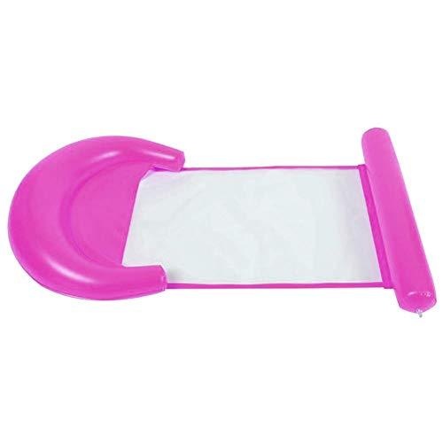 ser Hängematte Schwimmende Bett Lounge Stuhl Drifter PVC Schwimmbad Strand - Rosa ()