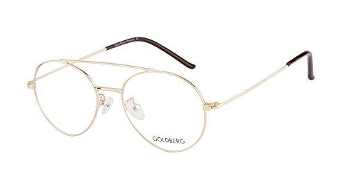 Goldberg GOLD BERG UNISEX AVIATOR FRAMES (GB-10265_GLD)