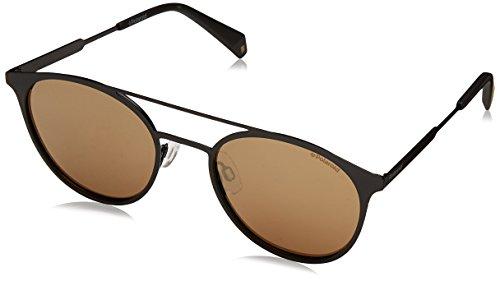 Polaroid Unisex-Erwachsene PLD 2052/S LM 807 Sonnenbrille, Schwarz (Black/Grey Goldmir Pz), 51