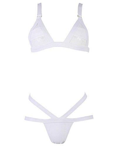 YARBAR Mesh Bandage Cinghietti triangolo Bikini Swimwear Beachwear Per le