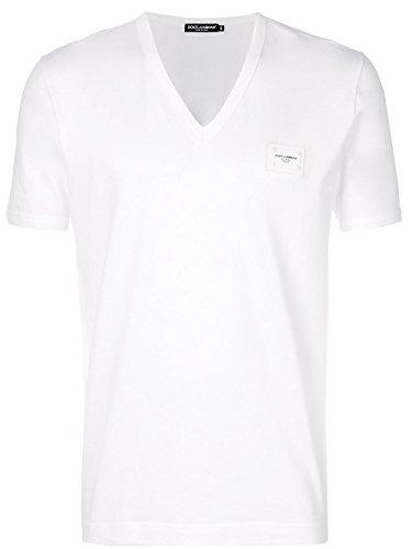 DOLCE E GABBANA Herren G8io3tfu7eqw0800 Weiss Baumwolle T-Shirt Dolce Und Gabbana, Weißes T-shirt