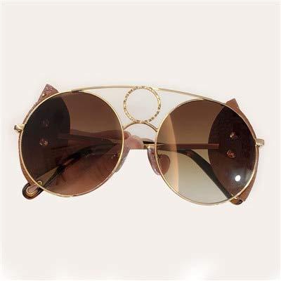 LKVNHP Mode Runde Sonnenbrille FrauenMarkendesignerHohe Qualität Retro Sonnenbrille WeiblichenMetallrahmen SonnenbrilleFür FrauenNo3 Sonnenbrille
