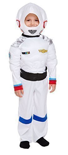 ceman Astronaut Fach Junge büchertag Kostüm Kleid Outfit 3 Jahre - Weiß, 3 Years (Astronauten-kostüm Für Jungen)