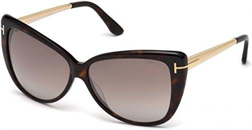 Tom Ford Unisex-Erwachsene FT0512 52G 59 Sonnenbrille, Braun (Avana Scura/Marrone Specchiato),