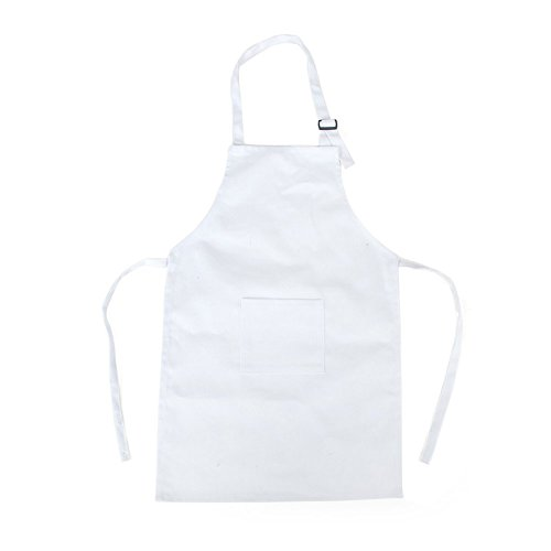 Lubier 1 pz Baby Play grembiule bambini grembiule da cucina per bambini grembiule da cuoco chef grembiule in cotone con tracolla regolabile (bianco) …