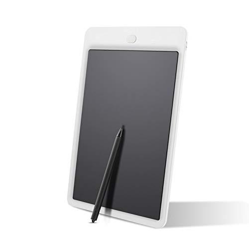 Cikuso 10-Zoll-Schreiben Graffiti-Grafik-Tablet zum Zeichnen von Tabletten mit Stylus Pen-Grafiktablett Fuer Kinder-Kind Memo Board LCD Draw Note Weiss