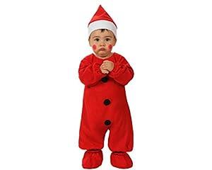 Atosa-12785 Atosa-12785-Disfraz De Papá Noel niño bebé-Talla Navidad, Color Rojo, 0 a 6 Meses (12785)