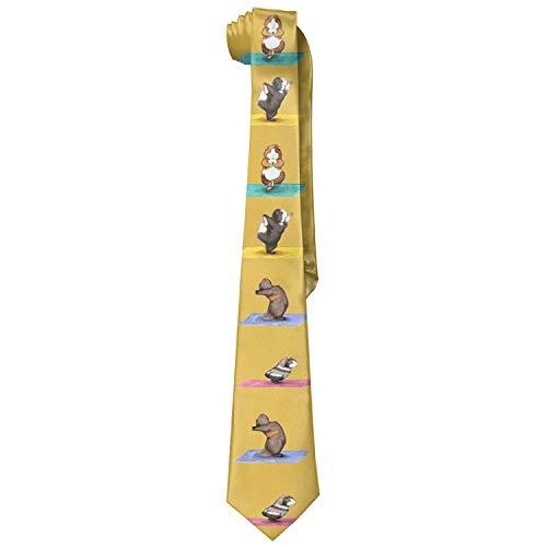 Gorgeous practical goods Love Guinea Pig Yoga Men's Polyester Silk Wide Ties/Necktie/Necktie Ties