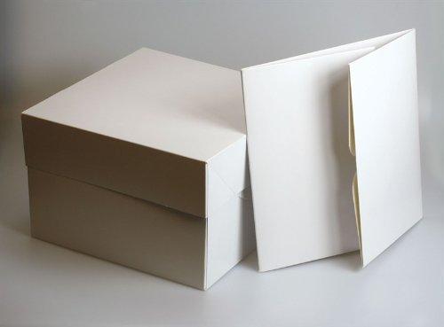 Estas cajas de color blanco son ideales para transportar decorado esponja pasteles. Tienen una tapa separada. Tapa de la caja y vienen embalaje plano para minimizar el espacio de almacenamiento que tomar. Son muy rápido y fácil de montar.