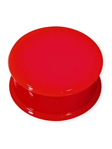 Fly Style Silikon Plug Tunnel 12 Farben (4-30 mm), Grösse:6 mm, Farbwahl:rot -