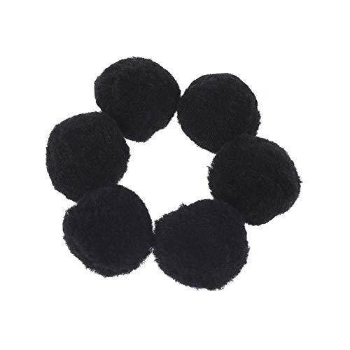 LUCHA 5 cm Pompons zum Basteln,, Acryl, Hobbyzubehör, DIY kreative Bastelarbeiten, Dekorationen, 48 Stück Schwarz -