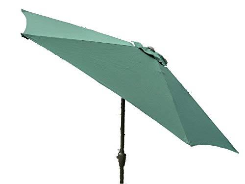 Grand 2 m, 2,7 m ou 3 m en métal manivelle et inclinaison jardin Parasol - 10 Couleurs 3 tailles (2m, vert)