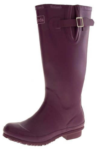 Footwear Studio Wetlands Womens Waterproof Wellington Boots Purple