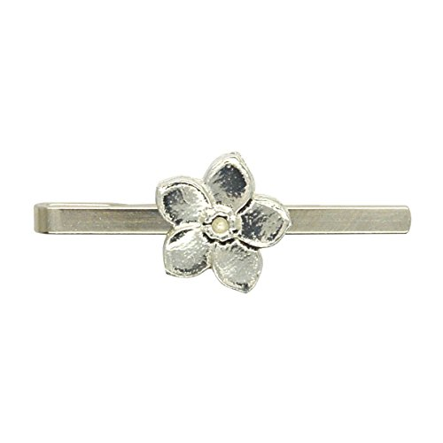 """Krawattennadel \""""Vergissmeinnicht Blume\"""" aus Zinn (Pewter) von Hand Gegossen"""