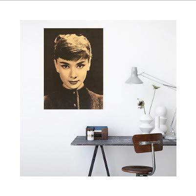 y Hepburn Sammlung Poster Papier Wandmalerei Dekor Wand Poster Alte Poster Dekorative Wandaufkleber 51X35,5 cm ()