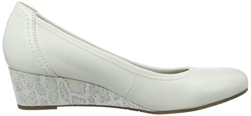 Tamaris Damen 22301 Pumps Weiß (WHITE COMB 197)
