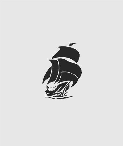 Wandaufkleber, Motiv Segelboot, für Jungen im Freien, Ozean, Sport, Abenteuer, Heimdekoration, abziehen und aufkleben, Vinyl, Größe: 25,4 x 35,6 cm, 22 Farben erhältlich -