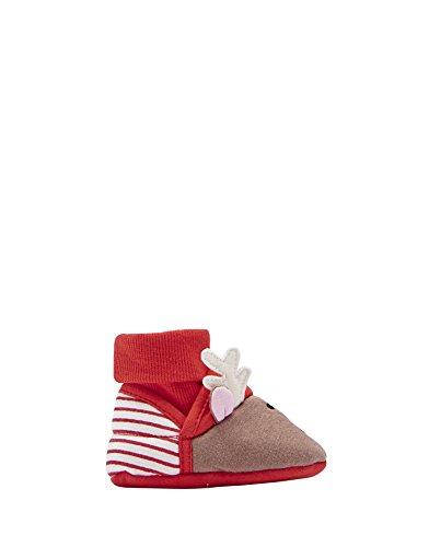Größe Schuhe Toms 4 Kinder, (Joules  Nipper Slipper, Baby Jungen Krabbelschuhe & Puschen, rot - Red (Reindeer) - Größe: 0-6 months)