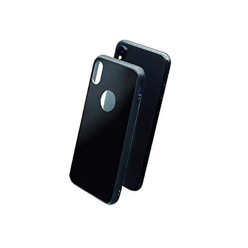 5da161f2f8c Muvit Skin - Carcasa para Apple iPhone XS/X (Vidrio Templado) Color Negro