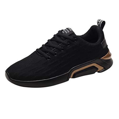 AIni Herren Schuhe Sale Mode Beiläufiges 2019 Neuer Heißer Schuhe Netzschuhe Freizeit Sportschuhe Sind im Sommerschuh Atmungsaktiv Freizeitschuhe Partyschuhe (39,Gold)