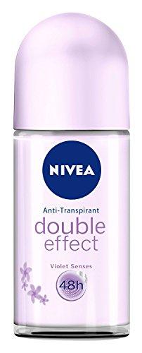 Nivea Deo Roll-on Double Effect Violet Senses Antitranspirant, 3er Pack (3 x 50 ml)