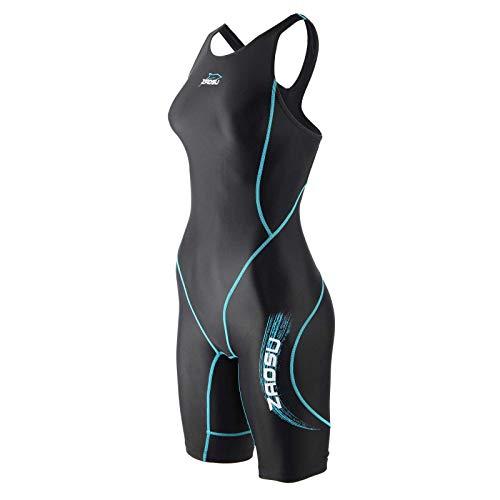 ZAOSU Wettkampf-Schwimmanzug Z-Black VITA - Badeanzug für Mädchen und Damen, Größe:152, Farbe:schwarz/türkis