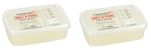 Glycerinseife transparent im praktischen Schmelzbehälter - 2kg, 2x1kg - Schmelzen, Gießen Sie Seife Basis