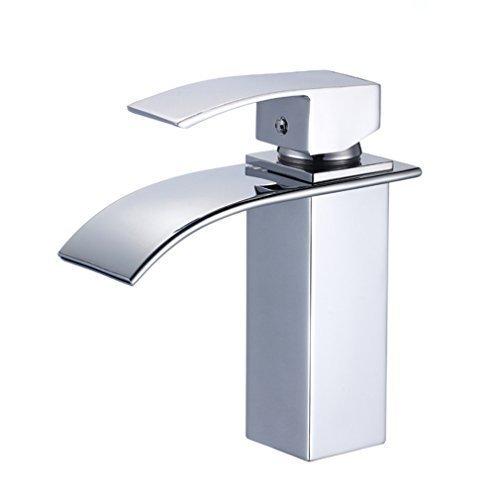 Auralum® Design Einhebel Wasserhahn Armatur Waschtischarmatur Wasserfall Einhandmischer für Badezimmer Waschbecken