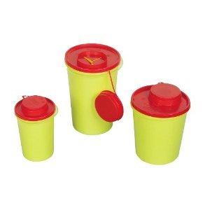 AMPRI Kanülenabwurfbehälter – 0,6 Liter – durchstichsicher – 1 Stück