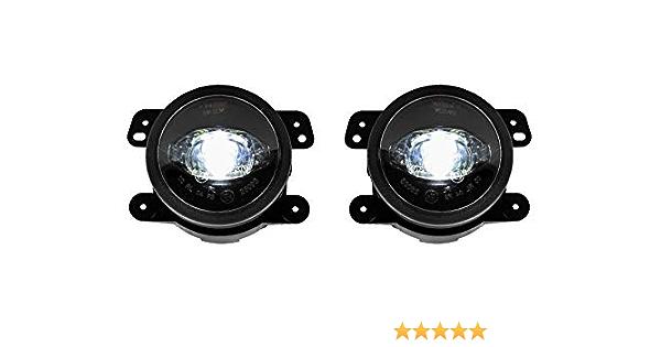 Autolight 24 Led Nebelscheinwerfer Für Wrangler Jk Bj 07 18 Lsw7 Mit E Zulassung Auto