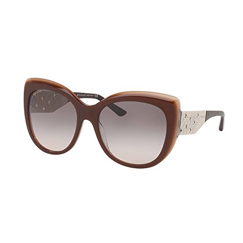 Bulgari 0bv8198b 54423b 57, occhiali da sole donna, marrone (trilayer brown beige/pinkgradientgrey)