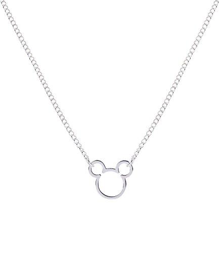 SIX Disney Adults, Micky Maus, Kopf, Halskette, Anhänger, Cut Outs, Kostüm, Karneval/Fasching, Silber (758-172)