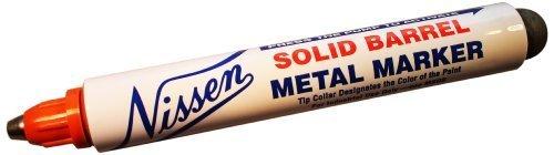 Nissen SBORB Solid Barrel Metal Marker, 1/8 Tip, Orange (Pack of 12) by Nissen