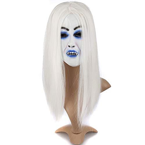 NOMEN Halloween Maske, Horror Gruselige Geistermaske Halloween Kostüm Prop Latex Rubber Scary Zombie Maske Männer Frauen,A