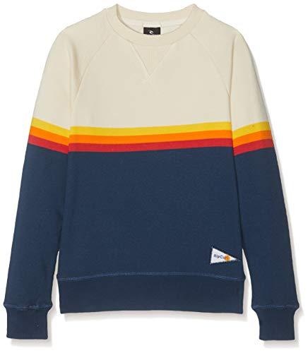 Rip Curl Jungen RAINBOW STRIPE CREWNECK FLEECE Sweatshirt, Blau (Navy), 8 Crewneck Fleece Pullover Sweatshirts