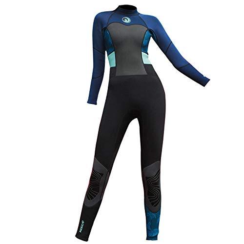 LOPILY Damen Neoprenanzug Wetsuit Schnorchelanzug Schnorcheln Surfbekleidung Wassersport Anzug Schnelltrocknend UV Schutz Sonnenschutz Schwimmanzug(Schwarz,2XL)