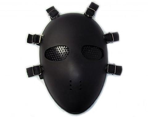 Masque de protection contre les impacts de billes de pistolets BB de Softair/Paintball noir Noir