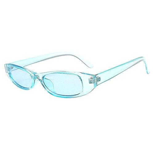 YEZIJINRetro Vintage Clout Cat Unisex Sonnenbrille Rapper Oval Shades Grunge Brille Free Size L