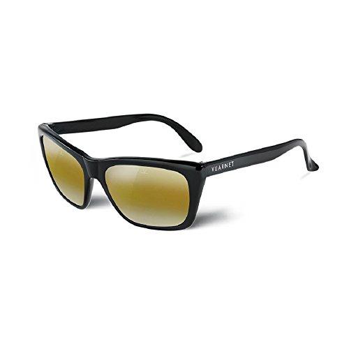 f5267ec27f Vuarnet sunglasses VL 0006 0001 Plastic Black Brown with Mirror effect