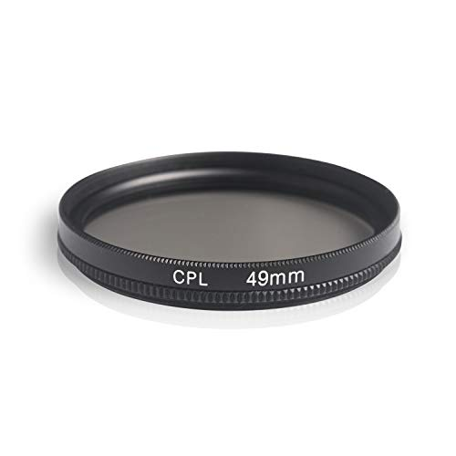 Ares Foto® CPL Zirkular-Polfilter Polarisationsfilter, optisches Glas & Aluminium. Für Canon Sony Nikon Fujifilm Pentax Tamron Sigma Leica Olympus Panasonic (49mm)